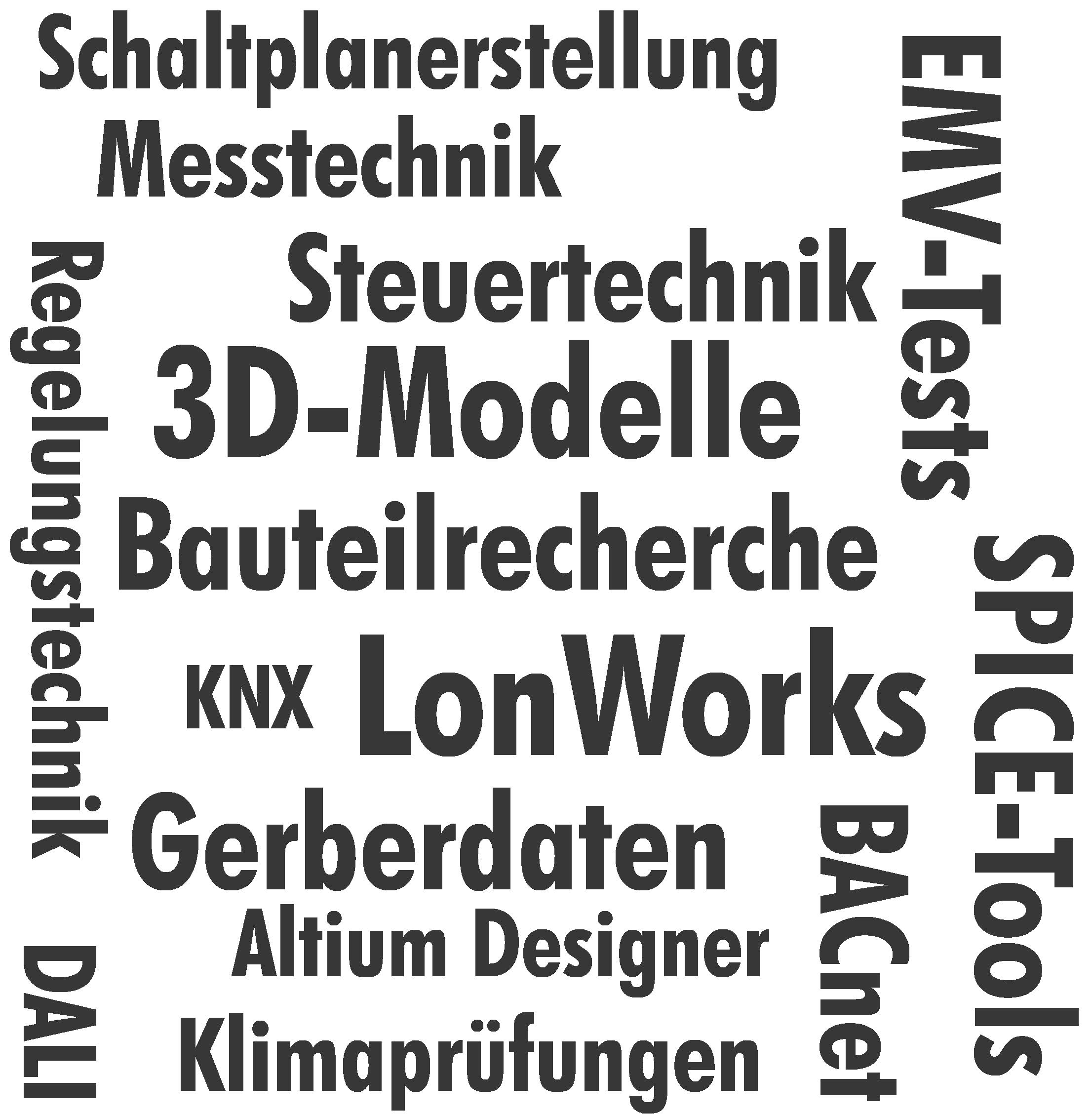 Wortwolke Hardware-Entwicklung