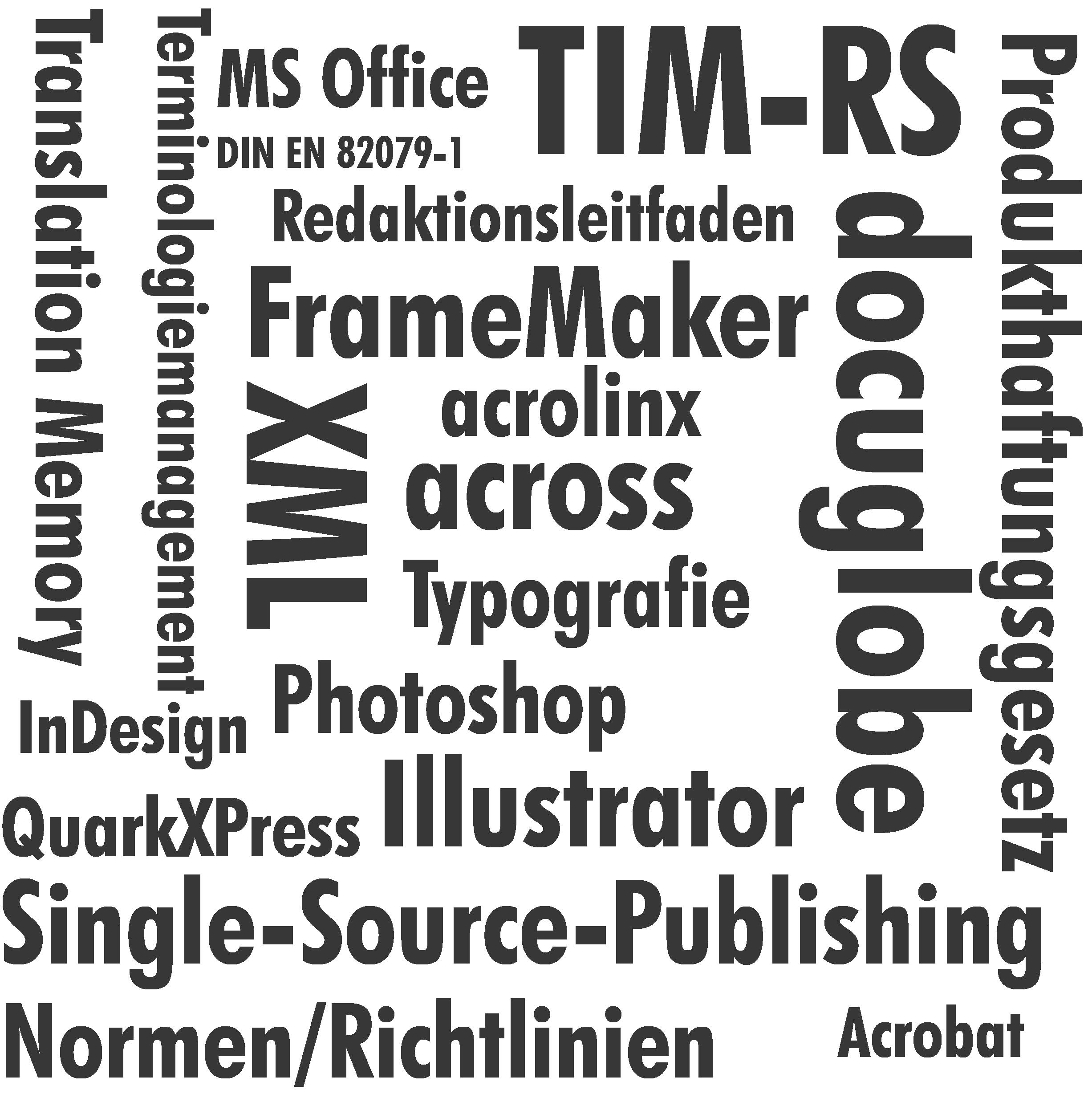 Wortwolke Technische Dokumentation