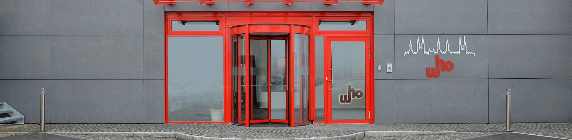 Abbildung des Eingangsbereiches zur who Ingenieurgesellschaft mbH